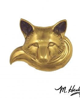 Michael Healy Designs Wild Fox Doorbell Ringer Brass