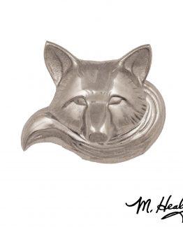 Michael Healy Designs Wild Fox Doorbell Ringer Nickel Silver