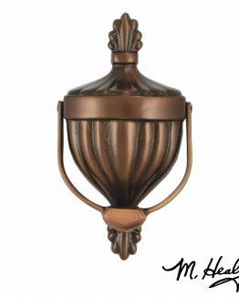 Michael Healy Victorian Urn Door Knocker - Oiled Bronze-Standard