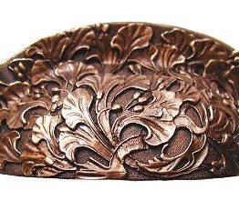 Notting Hill Cabinet Hardware Florid Leaves Antique Copper