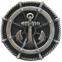 Notting Hill Cabinet Hardware Ship's Wheel Antique Pewter