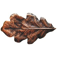 Notting Hill Cabinet Knob Oak Leaf Antique Copper