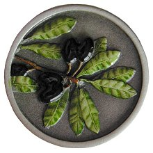 Notting Hill Cabinet Knob Olive Branch Pewter Hand Tinted
