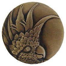 Notting Hill Cabinet Knob Cockatoo Large Left side Antique Brass