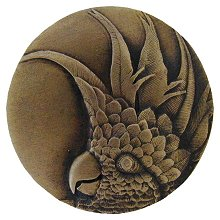 Notting Hill Cabinet Knob Cockatoo Antique Brass