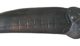 Notting Hill Cabinet Hardware Toucan Right side Dark Brass