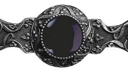 Notting Hill Cabinet Pull Victorian Jewel/Onyx Antique Pewter