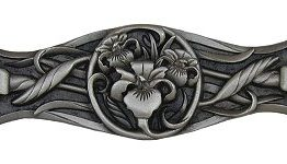 Notting Hill Cabinet Pull River Iris Antique Pewter