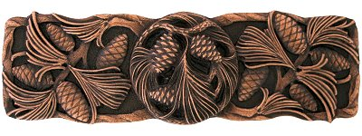 Notting Hill Cabinet Pull Cones & Boughs Antique Copper