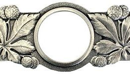 Notting Hill Cabinet Pull Horse Chestnut Brilliant Pewter