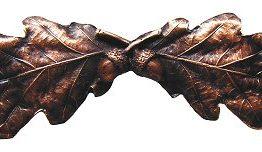 Notting Hill Cabinet Pull Oak Leaf Antique Copper