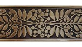 Notting Hill Hardware Mountain Ash Antique Brass Cabinet Pull