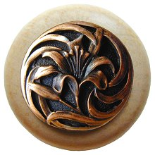 Notting Hill Cabinet Knob Tiger Lily/Natural Antique Copper