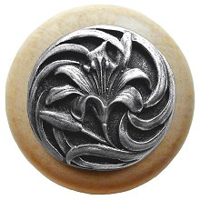 Notting Hill Cabinet Knob Tiger Lily/Natural Antique Pewter