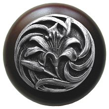 Notting Hill Cabinet Knob Tiger Lily/Dark Walnut Antique Pewter