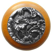 Notting Hill Cabinet Knob Hibiscus/Maple Antique Pewter
