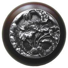Notting Hill Cabinet Knob Hibiscus/Dark Walnut Antique Pewter