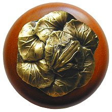 Notting Hill Cabinet Knob Leap Frog/Cherry Antique Brass