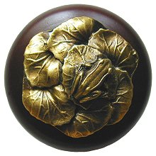 Notting Hill Cabinet Knob Leap Frog/Dark Walnut Antique Brass