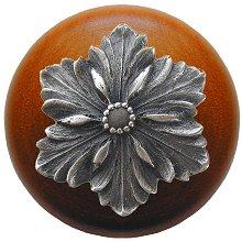 Notting Hill Cabinet Knob Opulent Flower/Cherry Antique Pewter