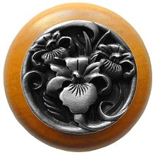 Notting Hill Cabinet Knob River Iris/Maple Antique Pewter