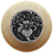 Notting Hill Cabinet Knob River Iris/Natural Brilliant Pewter