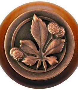 Notting Hill Cabinet Knob Horse Chestnut/Maple Antique Copper