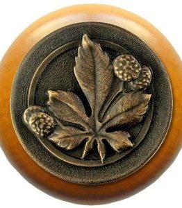 Notting Hill Cabinet Knob Horse Chestnut/Maple Dark Brass