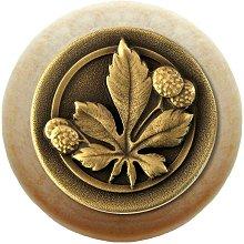 Notting Hill Cabinet Knob Horse Chestnut/Natural Antique Brass