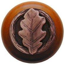 Notting Hill Cabinet Knob Oak Leaf/Cherry Antique Copper