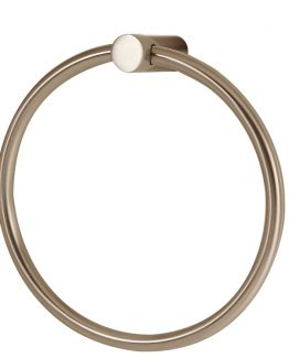 Alno Decorative Hardware Creations Towel Ring Satin Nickel