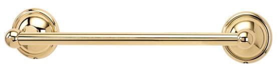 Alno Decorative Hardware Creations Towel Bar Polished Brass