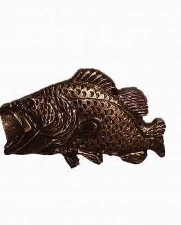 Buck Snort Lodge Decorative Hardware Cabinet Knob Swimming Bass