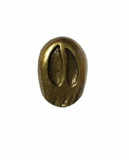 Buck Snort Lodge Cabinet Knob Single Whitetail Deer Track - Facing Left