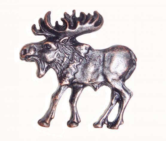 Buck Snort Lodge Hardware Cabinet Knob Walking Moose - Facing Left