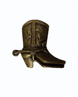 Buck Snort Lodge Hardware Cabinet Knob Cowboy Boot - Facing Right