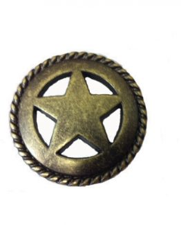 Buck Snort Lodge Decorative Hardware Cabinet Knob Sheriff Star Rope