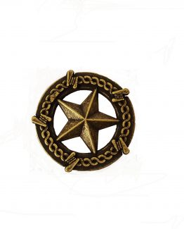Buck Snort Lodge Decorative Hardware Cabinet Knob Star Barbed Wire