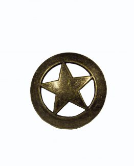 Buck Snort Lodge Decorative Hardware Cabinet Knob Sheriff Star