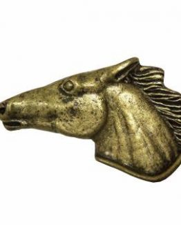 Buck Snort Lodge Hardware Cabinet Pulls Horse Head Left Facing