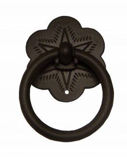 Buck Snort Lodge Decorative Hardware Ring Star Cabinet Pull