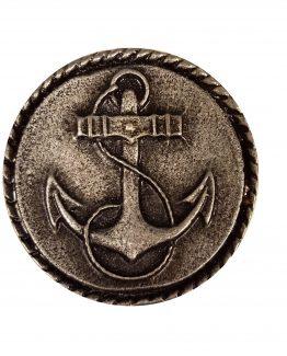 Buck Snort Lodge HardwareRound Cabinet Knob Small Anchor