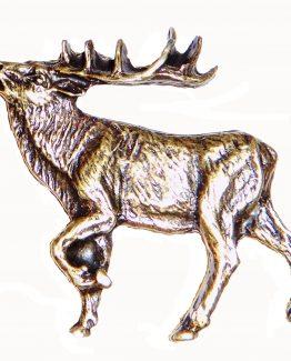 Buck Snort Lodge Hardware Cabinet Knob Walking Elk - Facing Left