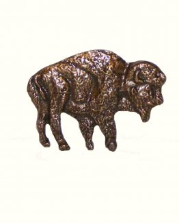 Buck Snort Lodge Decorative Hardware Cabinet Knob Standing Buffalo