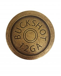 Buck Snort Lodge Hardware Cabinet Knob Shotgun Shell Coaster