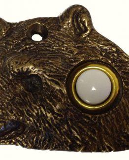 Buck Snort Lodge Decorative Hardware Bear Head Door Bell