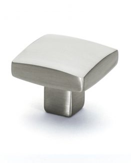 Cliffside Industries Choice Square Carena Cabinet Knob Silver Satin