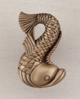 Acorn Manufacturing Dolphin Cabinet Knob Museum Gold