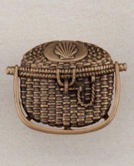 Acorn Manufacturing Nantucket Basket Cabinet Knob Museum Gold