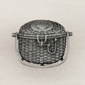 Acorn Manufacturing Nantucket Basket Cabinet Knob Antique Pewter